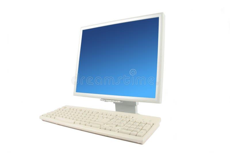 Lcd monitor en toetsenbord stock fotografie