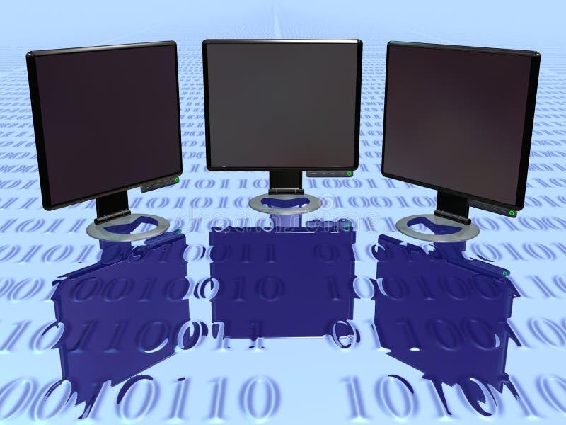 Lcd Monitor volume 3 royalty-vrije illustratie