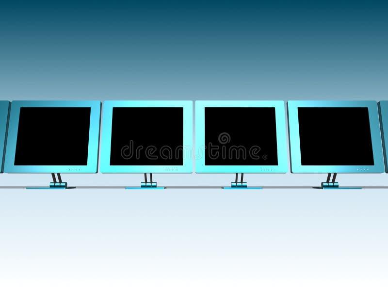 LCD MONITORS stock illustration