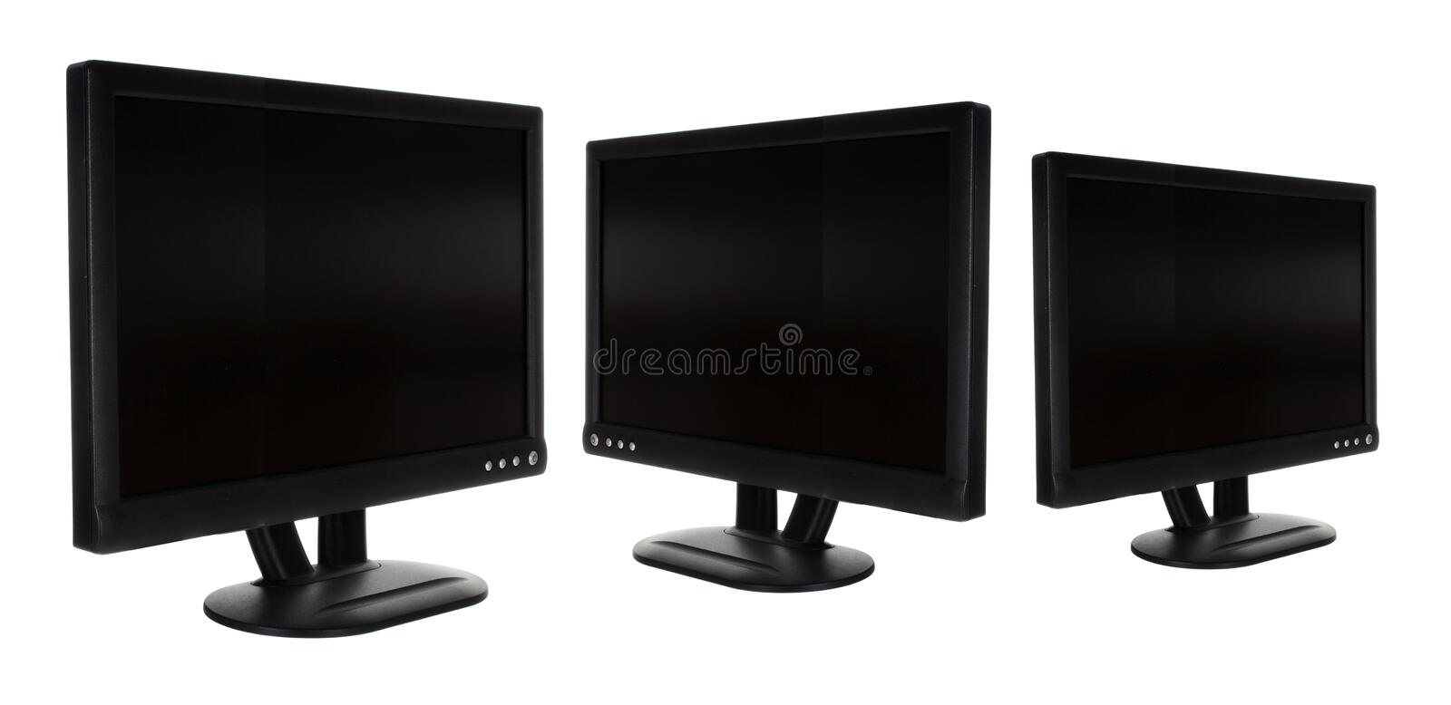 LCD Monitors stock afbeelding