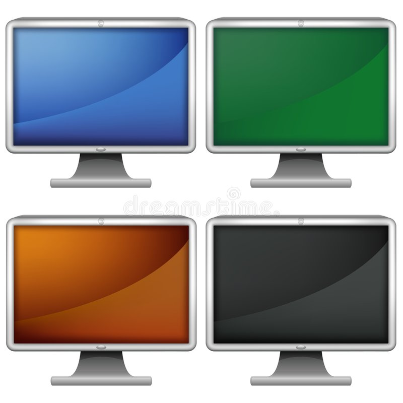 LCD monitors royalty-vrije illustratie