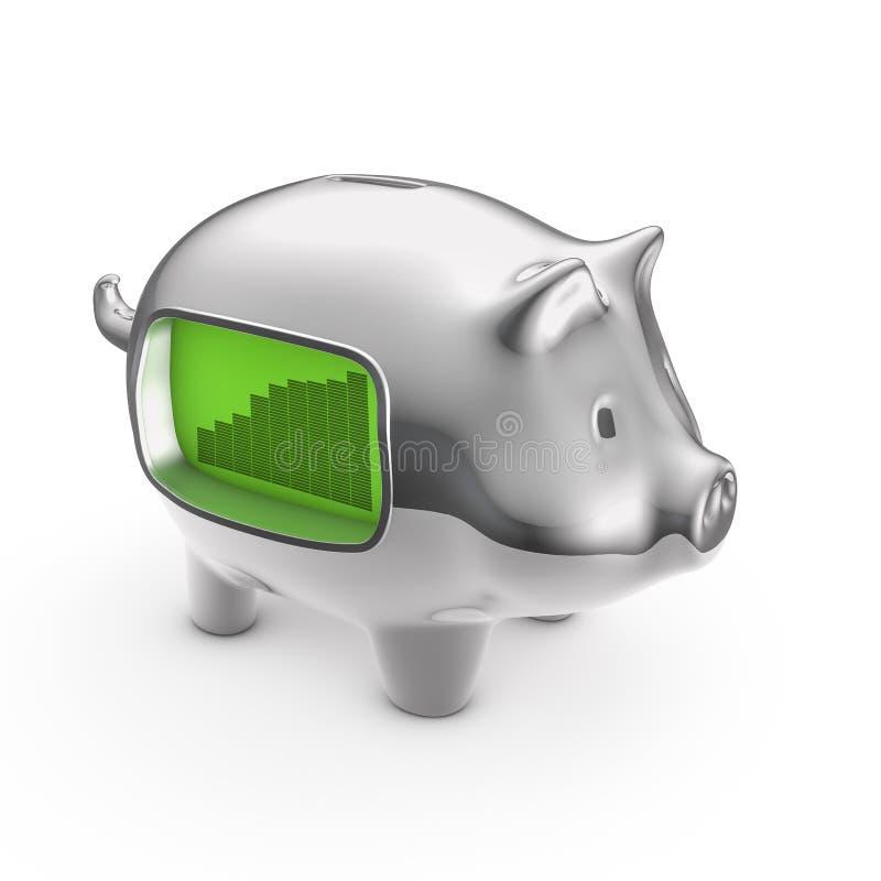 LCD Piggybank Obrazy Stock