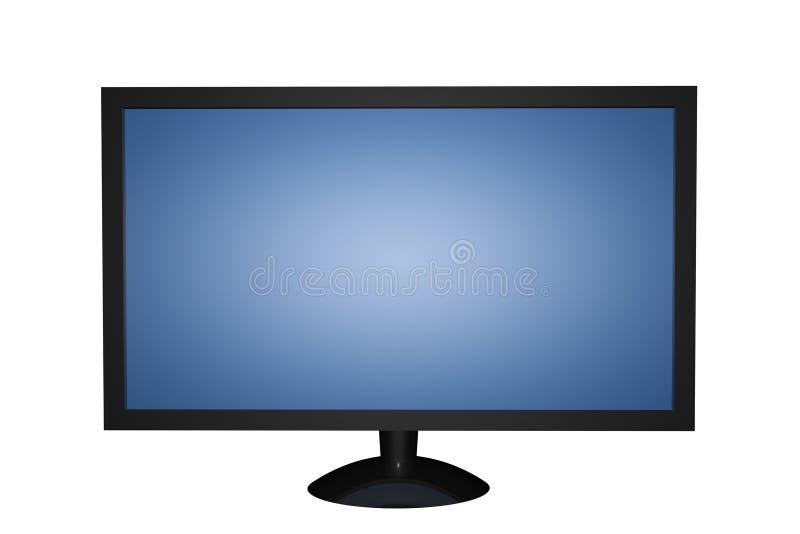 LCD Plasma LED TV screen. Isolated on white stock illustration
