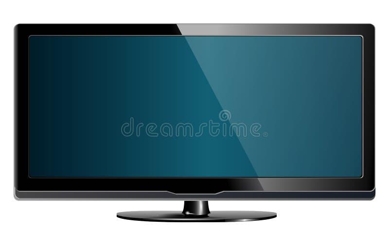 Download Lcd plasma tv stock vector. Illustration of dimensional - 14121635