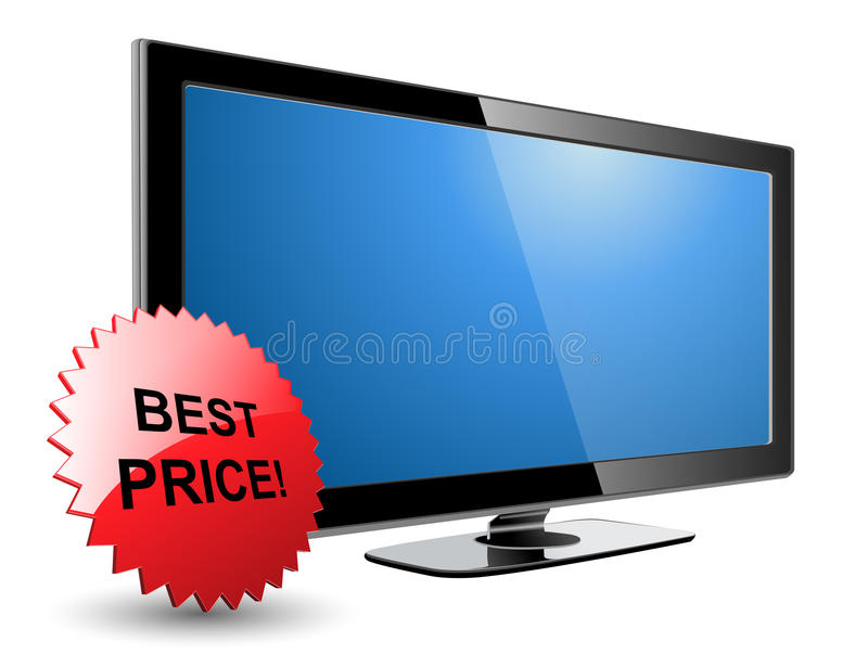 Lcd plasma tv vector illustration