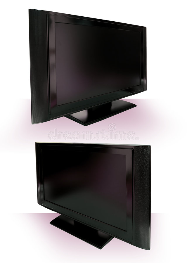 LCD or Plasma TV Cutout against white royalty free stock photography