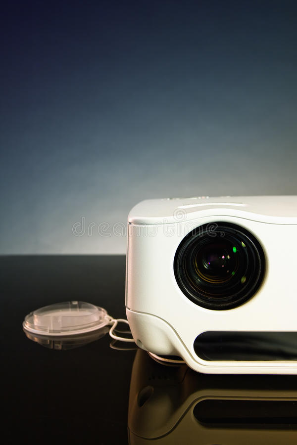 LCD projector. On a black background (for any designer needs royalty free stock photos