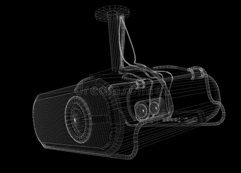 Lcd projector royalty-vrije illustratie