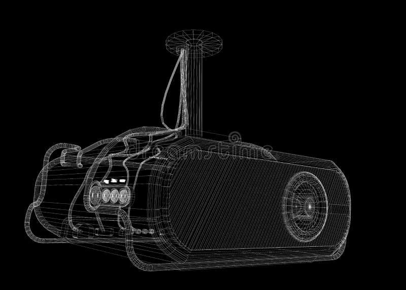 Lcd projector vector illustratie