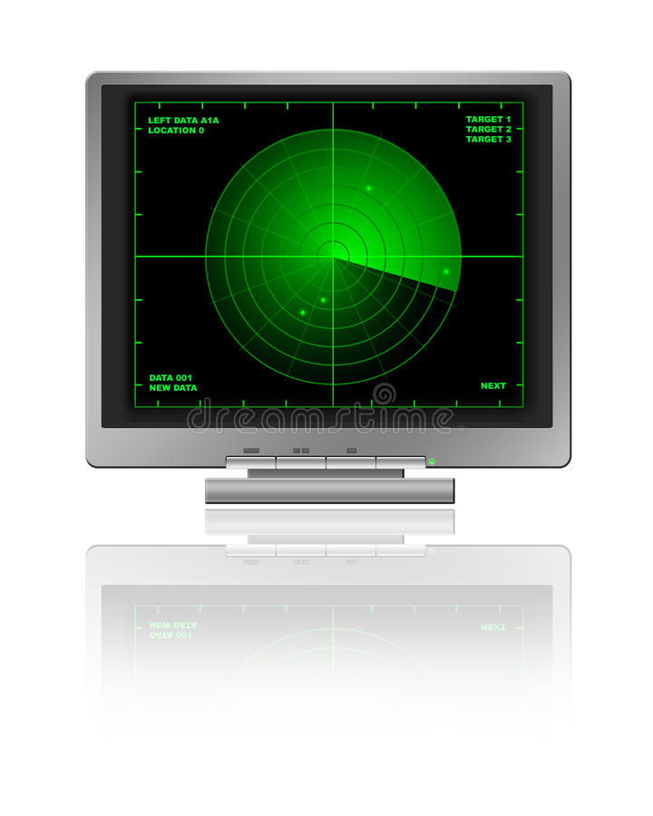 LCD with Radar vector illustration