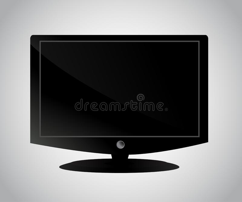 Download LCD screen stock vector. Illustration of monitor, desktop - 13623134