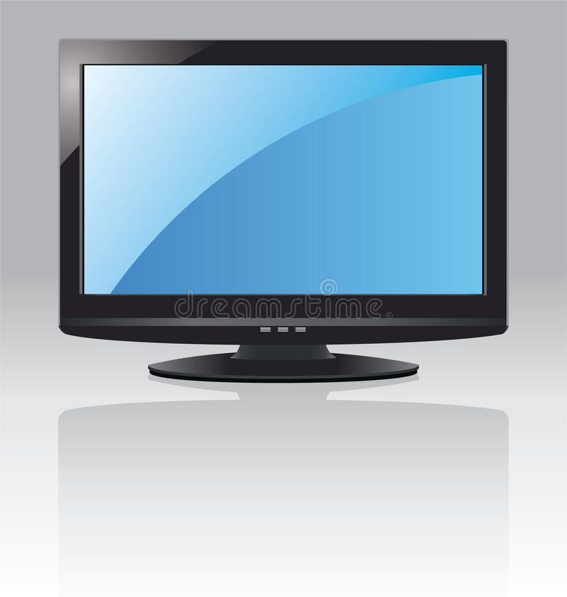 Download LCD screen stock vector. Image of black, computer, background - 16593010