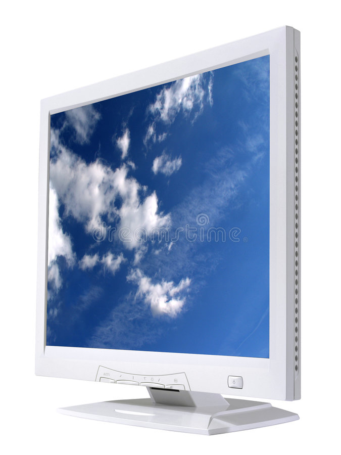 LCD screen #2 stock image