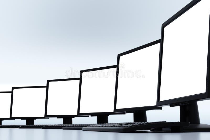 LCD Screen Mockup royalty free stock photos