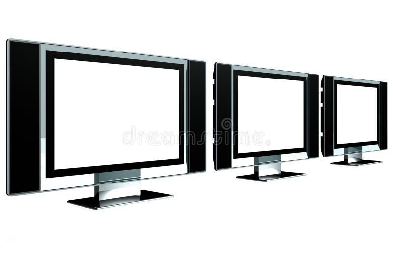 LCD Screen Mockup stock image