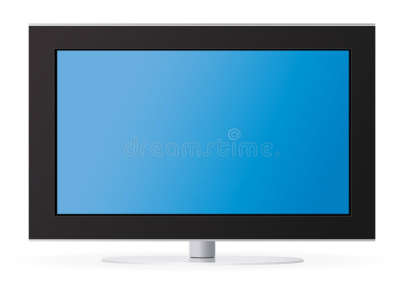 Download LCD TV stock vector. Image of thin, front, crystal, image - 11563149