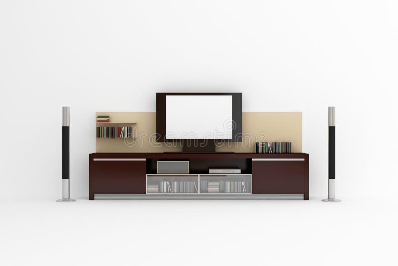 LCD TV stock illustration