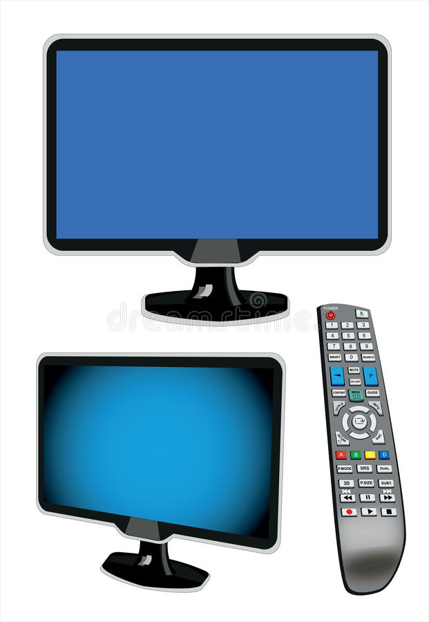 Download LCD TV stock illustration. Image of monitor, board, front - 24531609