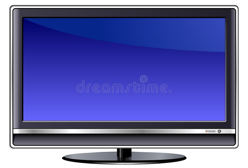 LCD TV. A vector image of an LCD TV vector illustration