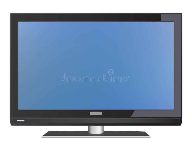 LCD TV ilustración del vector