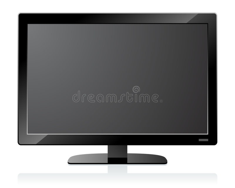 Download LCD TV stock vector. Image of blue, collection, information - 5955814