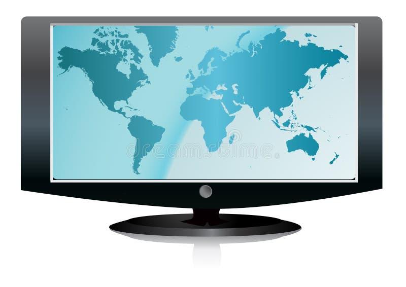 LCD TV. Vector illustration on white background stock illustration