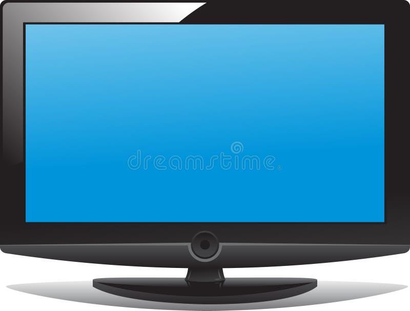 LCD tv. Vector illustration modern LCD TV royalty free illustration