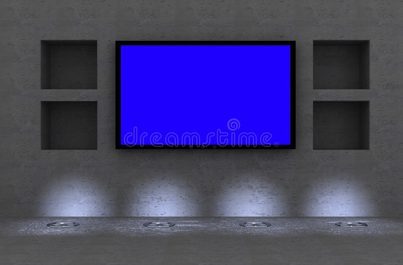 lcd tv ilustracja wektor