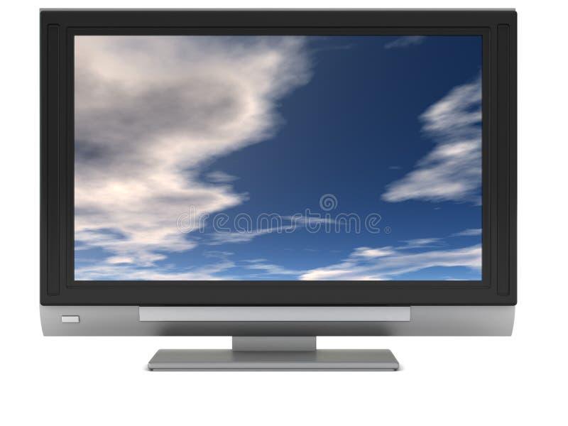Lcd TV royalty-vrije illustratie
