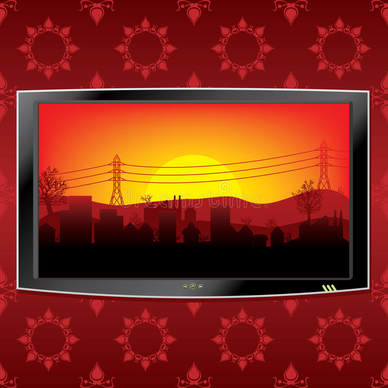 Lcd tv background royalty free illustration