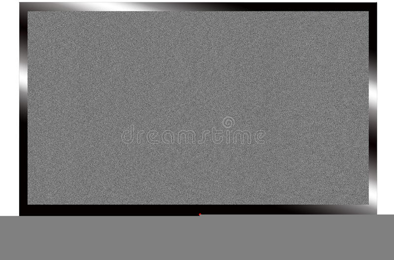 LCD TV. An LCD / LED tv with foot isolated on white stock images