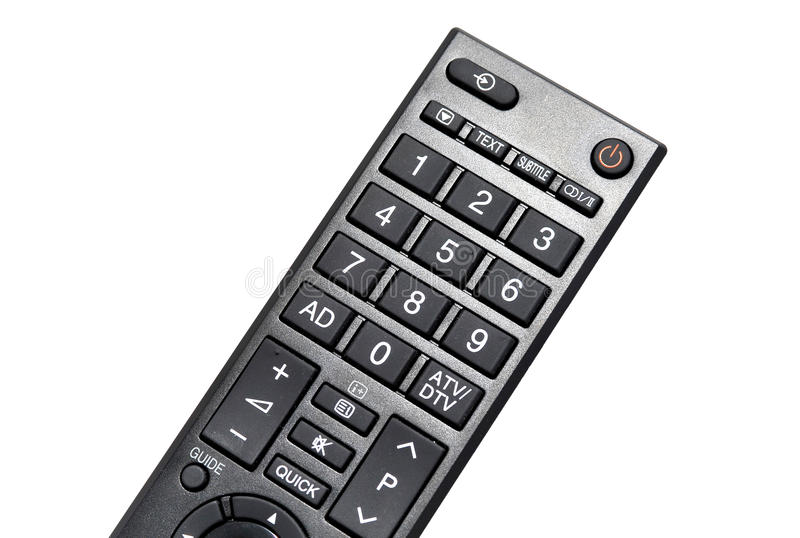 Lcd tv led remote control stock photo