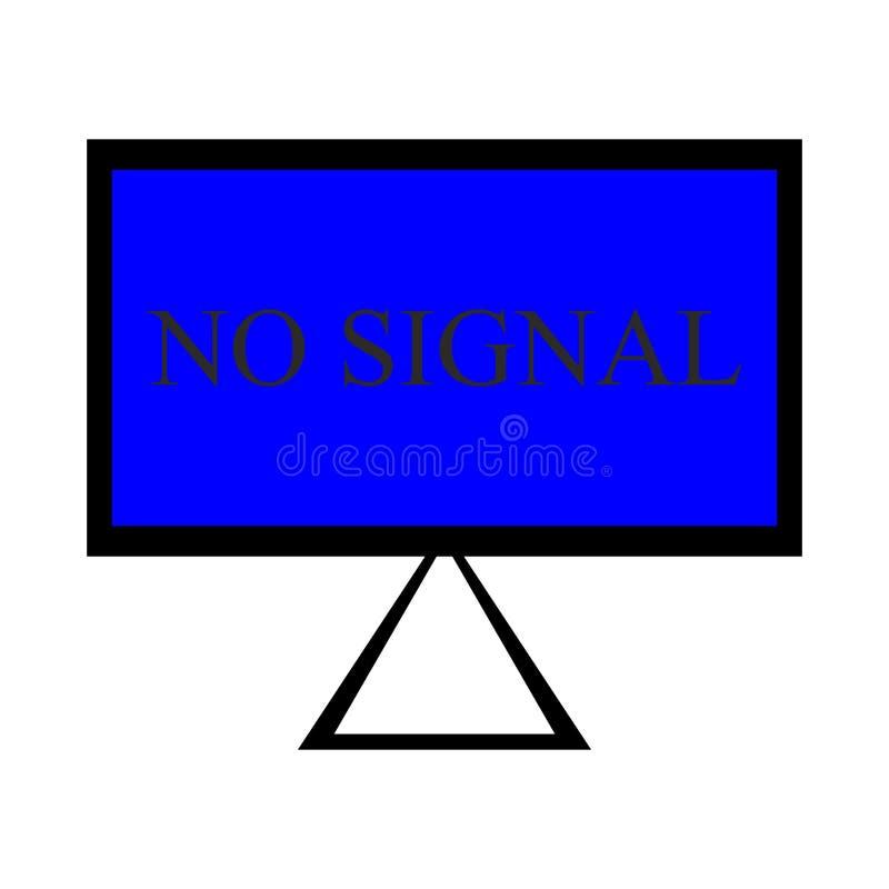 LCD TV screen. royalty free illustration