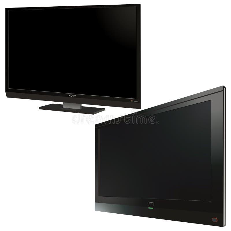 Download LCD TV screens stock vector. Image of media, elegance - 20105254