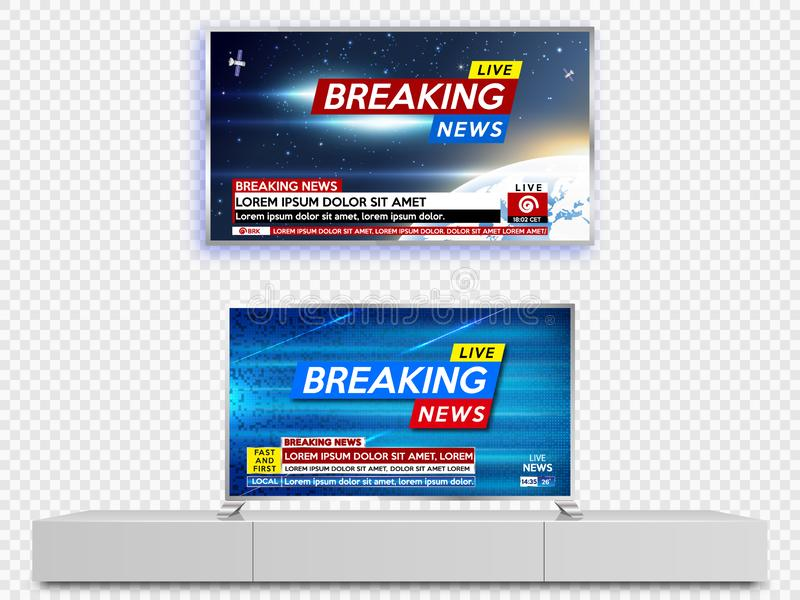 LCD TV set vector illustration