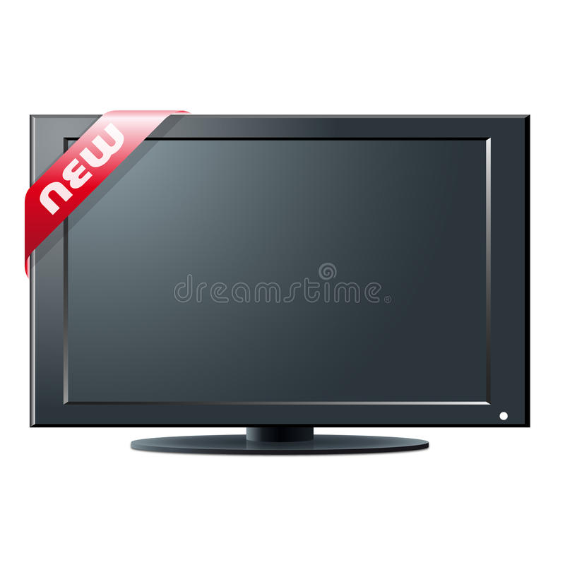 LCD TV set on Sale. An illustration for your design project vector illustration