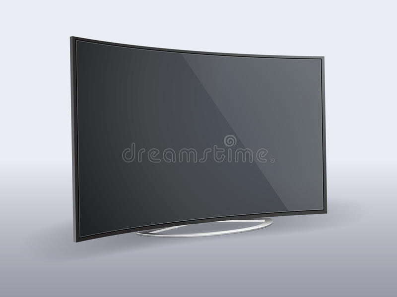 Lcd tv. Vector illustration of lcd monitor. File is in eps10 format stock illustration