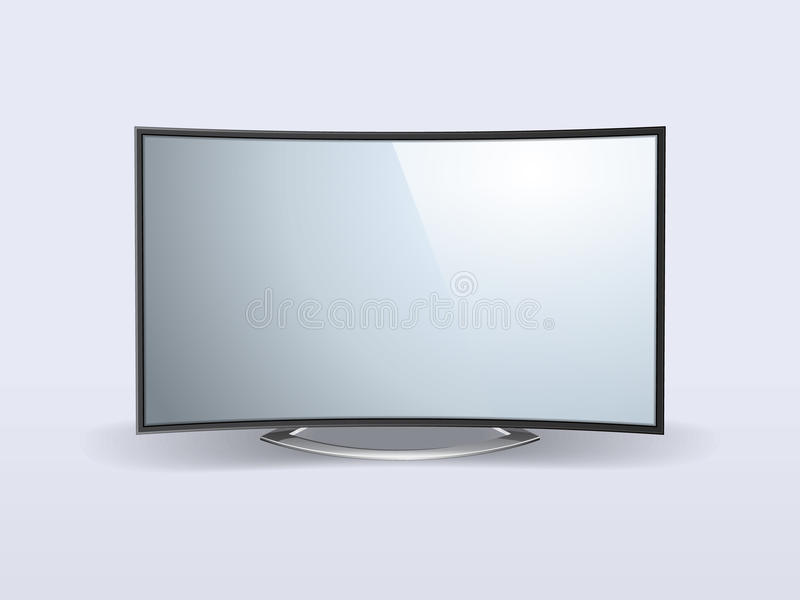Lcd tv. Vector illustration of lcd monitor. File is in eps10 format royalty free illustration