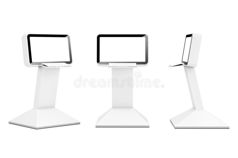 LCD van de computerinformatie Vertoningstribunes het 3d teruggeven vector illustratie