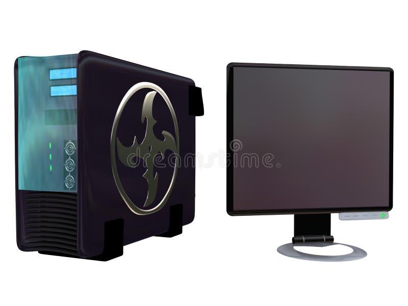 Lcd van de server Monitor volume 3 royalty-vrije illustratie