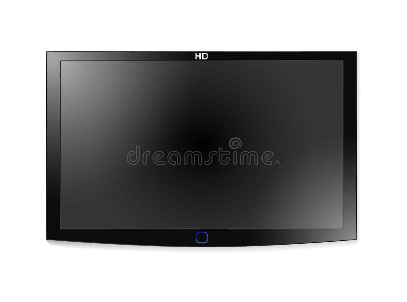 Lcd van het plasma TV royalty-vrije illustratie