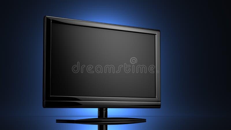 Lcd vertoning met groot scherm stock illustratie