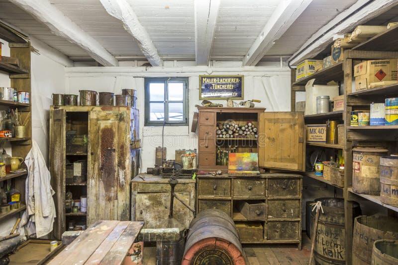 LD-de schilders winkelen van binnenuit in Hessenpark in Neu Anspach royalty-vrije stock fotografie