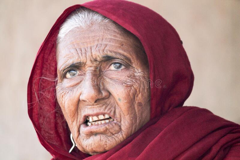 Ld Indian woman portraits child,girls,tribal,young, eye, farmer family people life. 15 jun 2019 - 12 pm Ahmadabad, Gujarat- India.  old Indian woman portraits stock photography