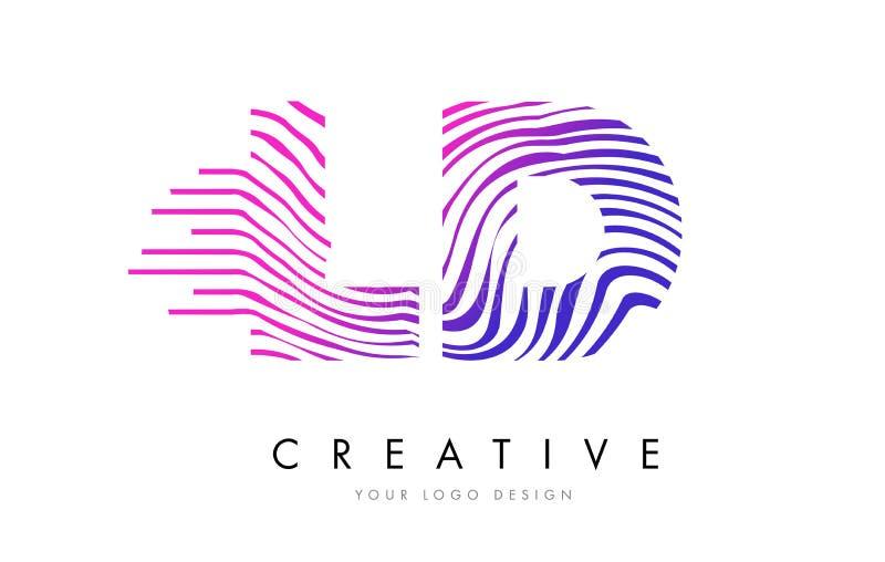 LD L D-Zebra Zeichnet Buchstaben Logo Design Mit Magentaroten Farben ...