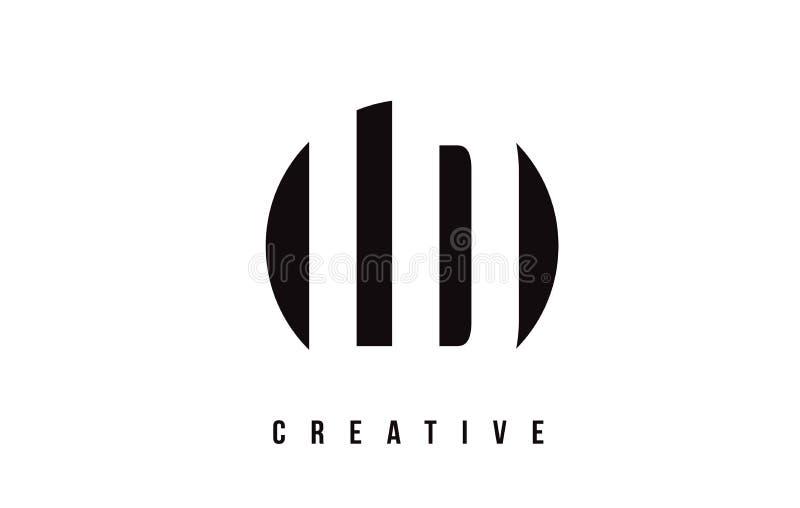 LD L letra branca Logo Design de D com fundo do círculo ilustração do vetor