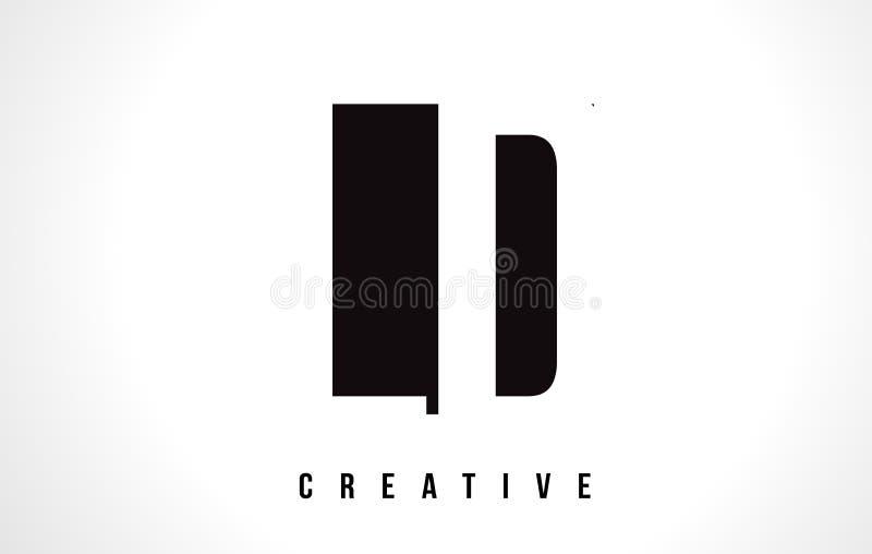 LD L letra branca Logo Design de D com quadrado preto ilustração royalty free
