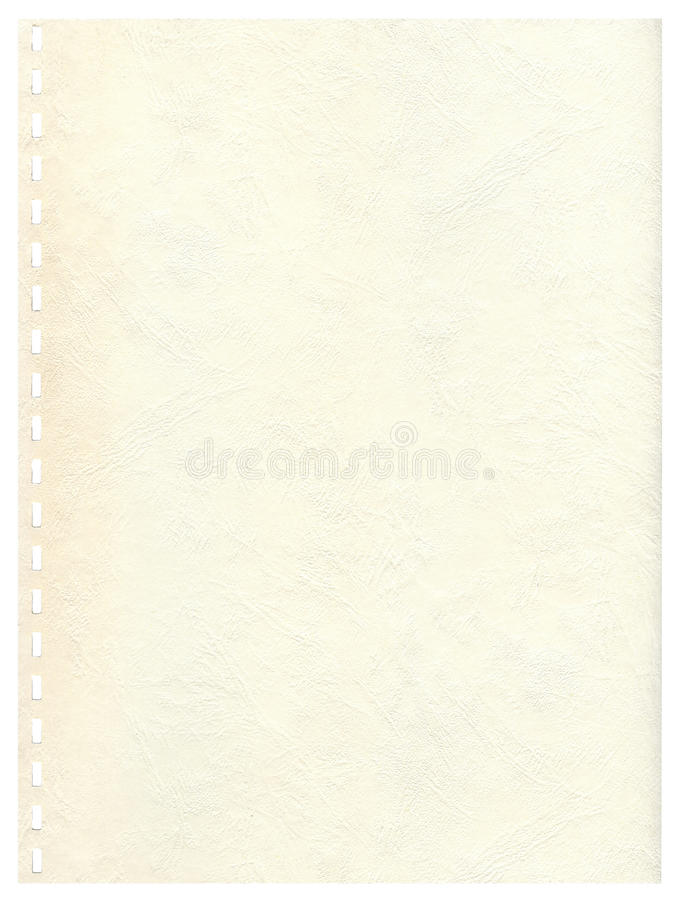 Ld page from a notebook to background stock image