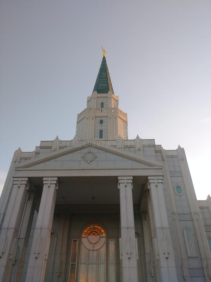 LDS Houston Temple foto de stock royalty free