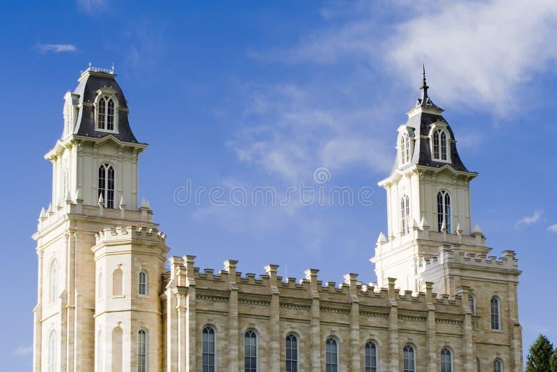 lds manti południowego Utah świątyni obraz stock
